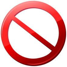 Icon Sign Forbidden Vector