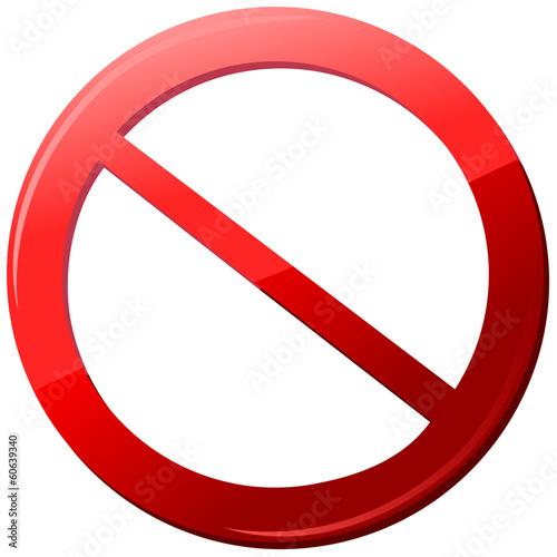 Fotografie, Obraz icon sign forbidden Vector