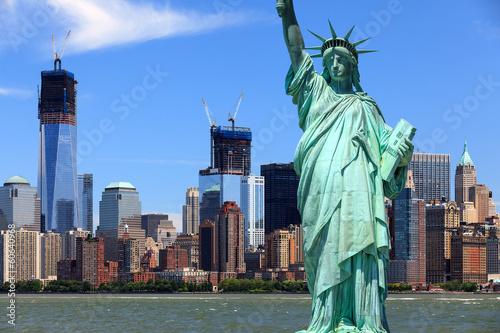 Poster New York New York City - Manhattan und Freiheitsstatue