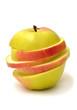 Sliced apple rings
