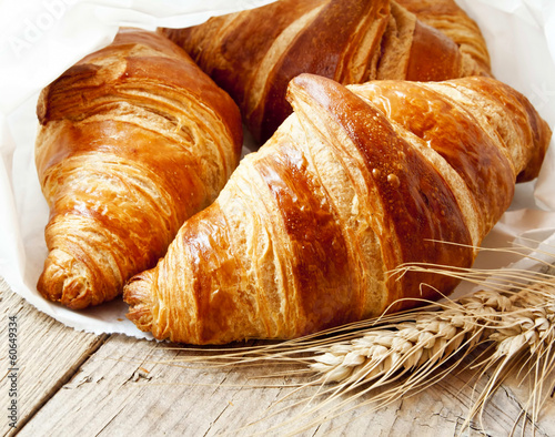 Fresh Croissants Canvas Print