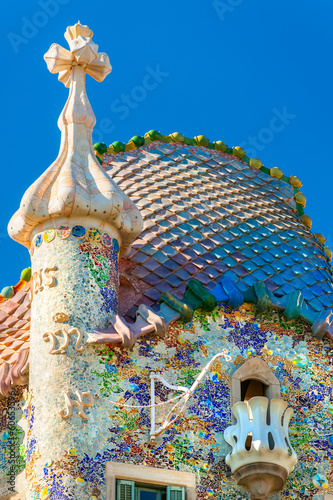 Photo  BARCELONA - DECEMBER 16: The facade of the house Casa Battlo (al