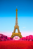 Eiffel tower with graduated french flag - 60654703