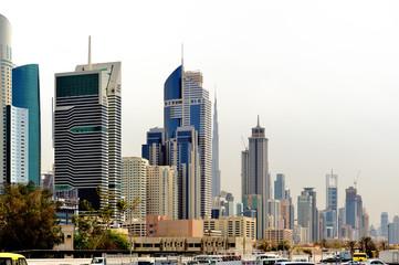 Dubai. Skyscrapers of  World Trade center