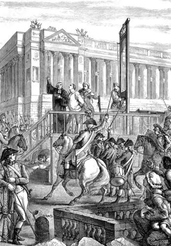 King Louis XVI execution Fototapet