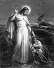 Jesus Christ Walking On The Sea