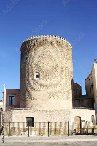 Ancient Military tower in Bitonto, Italy Wallpaper Mural