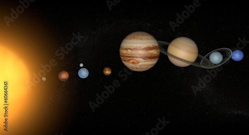 Keuken foto achterwand Nasa Sistema solare pianeti spazio universo sole