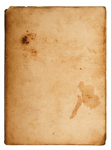 Carta Antica Su Fondo Bianco