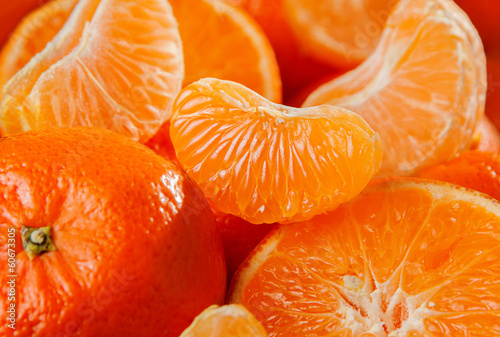 Tangerine fruit background