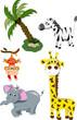 Wild animals cartoon