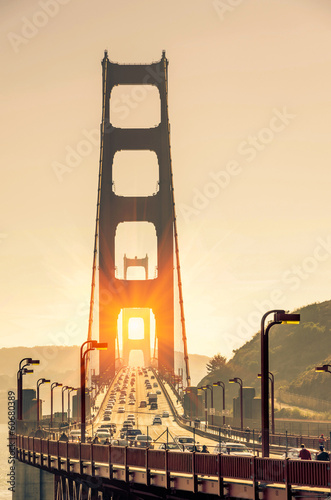 Keuken foto achterwand San Francisco Golden Gate Bridge - San Francisco at Sunset