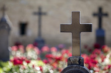 Granite Crosses On Tombs Of He...
