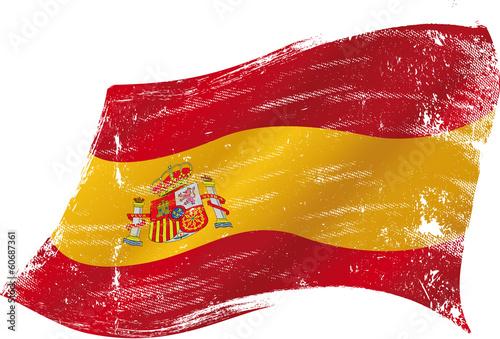 Fototapeta premium Hiszpańska flaga grunge