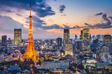 Fototapeta City - Tokyo, Japan at Tokyo Tower