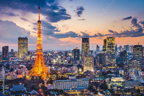 Deurstickers Tokio Tokyo, Japan at Tokyo Tower