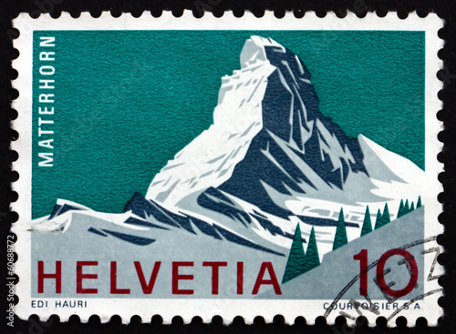 Valokuva  Postage stamp Switzerland 1965 Matterhorn, Mountain