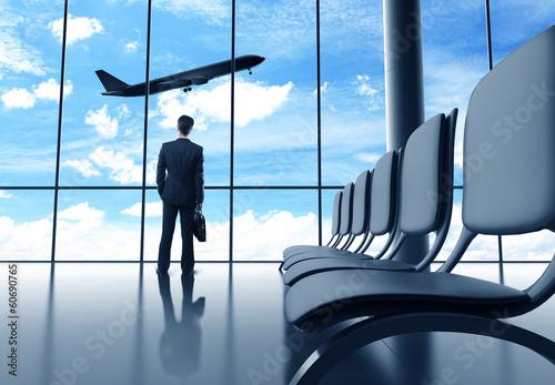 Foto op Aluminium Luchthaven businessman in airport