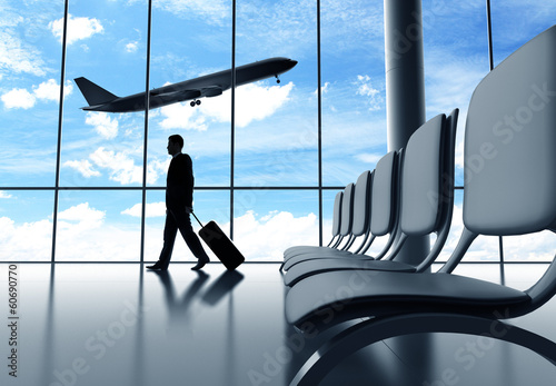 Foto op Aluminium Luchthaven businessman walking in airport