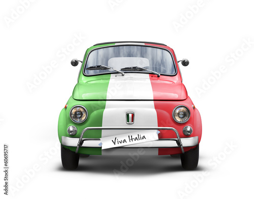 Stampa su Tela Voiture Italienne sur Fond Blanc