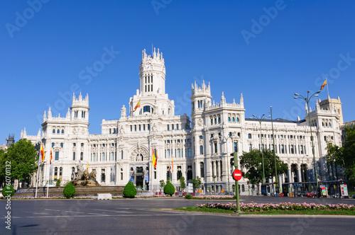 In de dag Madrid Palacio de Comunicaciones in Madrid, Spain