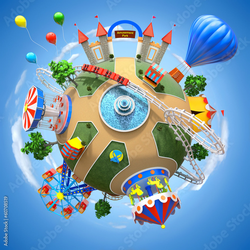 Papiers peints Attraction parc Amusement park planet