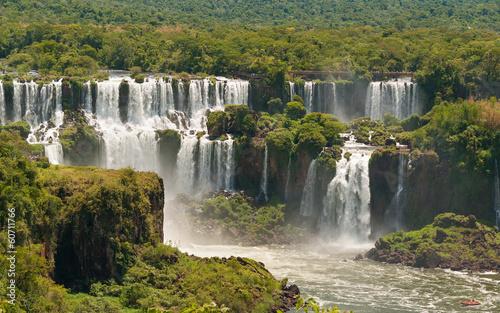 Poster Afrique du Sud Iguassu waterfalls bordering Argentina Brazil