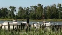 Britttania Heritage Runabout Passing Dock