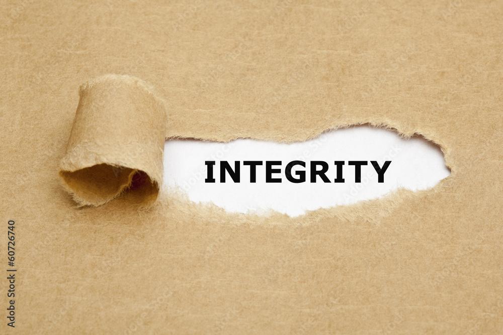 Fototapeta Integrity Torn Paper Concept