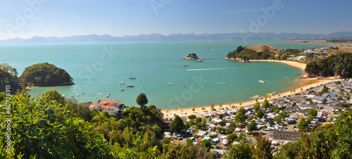 Keuken foto achterwand Nieuw Zeeland Kaiteriteri Camp & Beach Panorama, New Zealand
