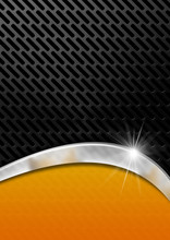 Orange And Metal Background Wi...