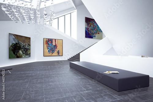 Fotografie, Tablou  Inside a Art Gallery