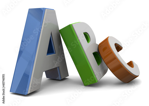 ABC TEXT -3D Canvas Print