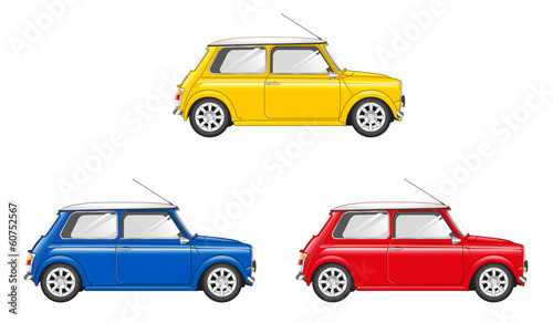 Spoed Foto op Canvas Cartoon cars MINI COLOR