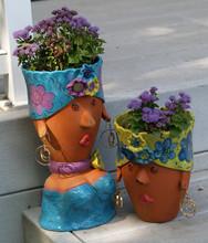 Clay Planter Pot Sculptures Of...