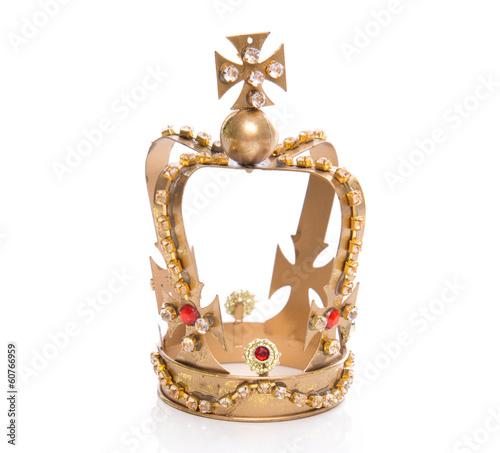 Fotografie, Obraz  Goldene Krone vom König isoliert