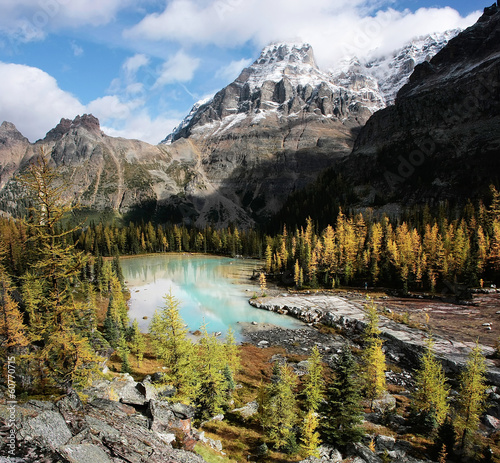 Spoed Foto op Canvas Canada Mount Huber and Opabin Plateau, Yoho National Park, Canada