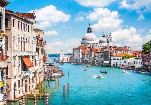 Obraz Kanał Grande i bazylika Santa Maria della Salute, Wenecja, Włochy - fototapety do salonu