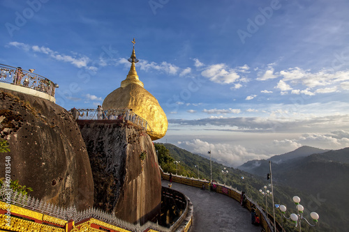Landscape around Golden Rock in Myanmar Poster Mural XXL
