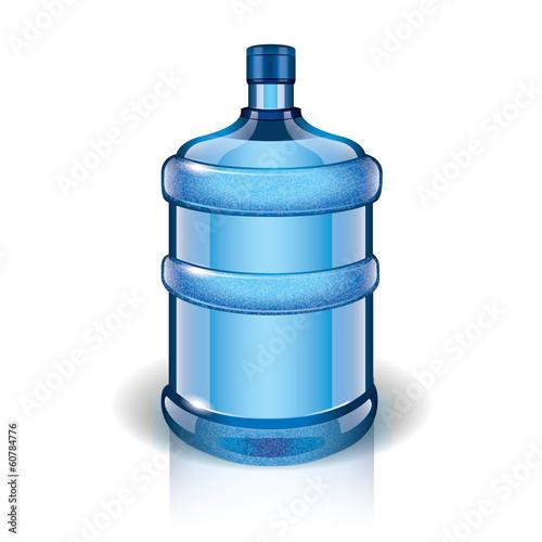 Valokuva Water bottle vector illustration