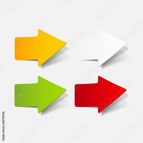 Fotografía  realistic design element: arrow