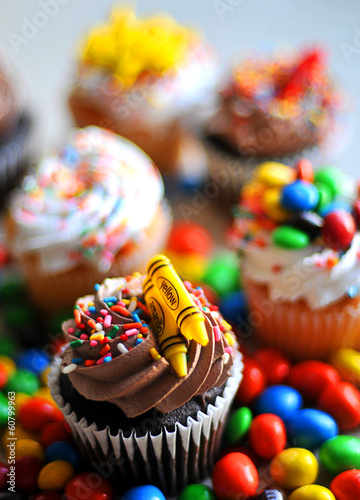 Photo  cake, cupcake and sweet pastry (delicious dessert)