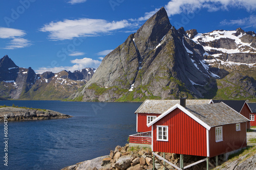 Garden Poster Scandinavia Fishing hut by fjord