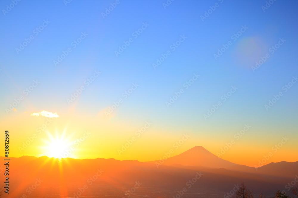 Fototapety, obrazy: Mt. Fuji with sunrise