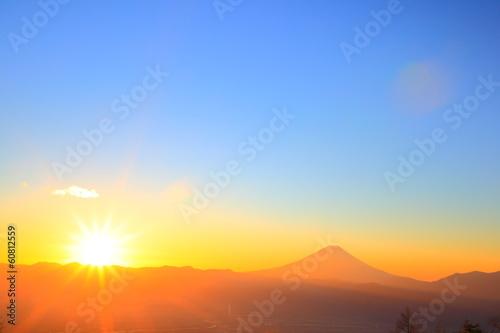 Mt. Fuji with sunrise