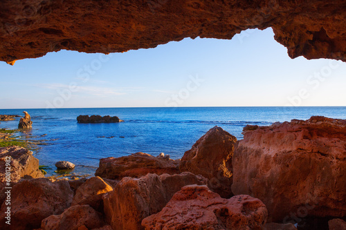 Photo  Denia Las Rotas from the caves and Mediterranean sea