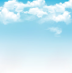 Fototapeta Niebo Blue sky with clouds. Vector background