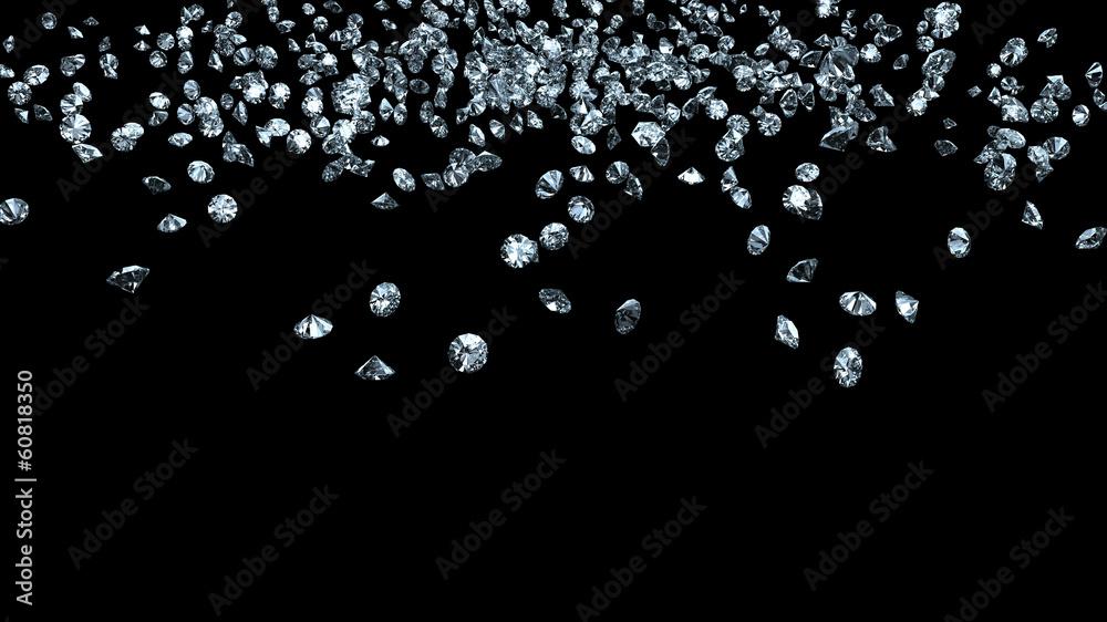 Fototapeta diamonds on black