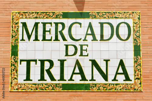 Fotografía  Mercado del barrio de Triana, Sevilla