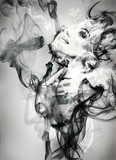 Fototapeta Młodzieżowe - abstract  woman portrait . watercolor illustration